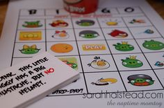 Angry Birds Birthday Games & Favors