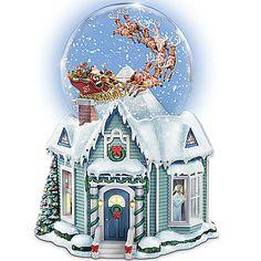 Thomas Kinkade The Night Before Christmas Snowglobe