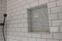 white subway tile shower | 12 Oaks