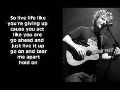 Hold On (New Song) -Ed Sheeran LYRICS