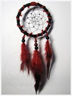 Red and Black - dream catcher by SaQe.deviantart.com on @deviantART