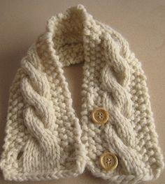 Knitting Pattern Cabled Neck Warmer por HomeMadeOriginals en Etsy