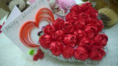 D.I.Y. Valentine's Day Satin Rose Heart