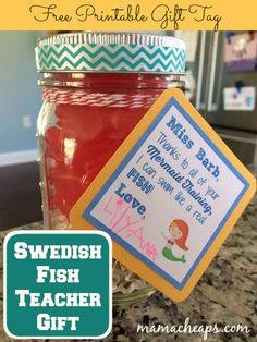 Teacher Gift Idea for Swim Teachers and Coaches + FREE Printable Gift Tag