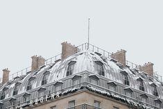 Snowy Parisian Rooftops