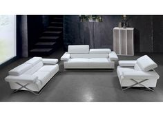 Demetria - White Leather Sofa Set with Adjustable Headrests  https://www.euroluxfurniture.com/2502-demetria-contemporary-white-leather-sofa-set-living-room-furniture