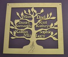 wooden family tree - The Supermums Craft Fair