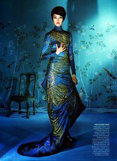 Fei Fei Sun in Alexander McQueen for Vogue US May 2015 by Steven Meisel.