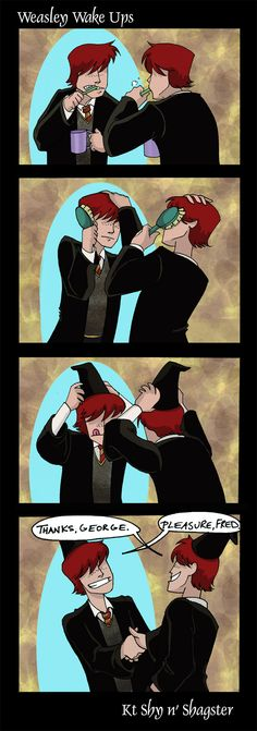 Fred & George Weasley by ~ktshy on deviantART