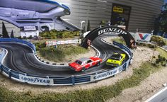 View David Beattie Makes the World's Most Extravagant and Realistic Slot-Car Tracks [Sponsored] Photos from Car and Driver. Find high-resolution car images in our photo-gallery archive. Slot Car Racing, Slot Car Tracks, Slot Cars, Race Tracks, Las Vegas, Porsche, Track Pictures, Healthy Lifestyle Changes, Car Set