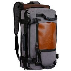 ibagbar Canvas Backpack Travel Bag Hiking Bag Camping Bag Rucksack *** Review more details here : Hiking backpack