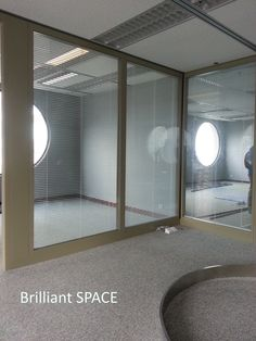 Glass System Wall 怡和大廈 (厚框雙層清玻璃屏風-內置百葉 Double Clear Glass Panel with blind) 6