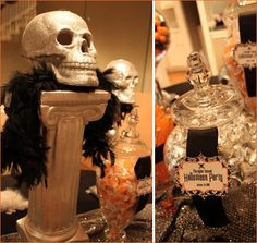 REAL PARTIES: Wicked Bling Halloween {Part 1   Cocktail Party & Candy Bar}