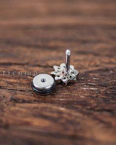 cartilage earring 16g helix earring helix piercing by ticomo