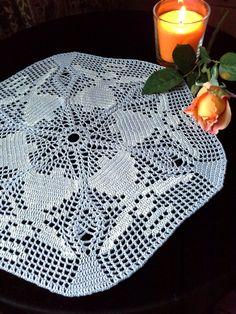 Crochet lace doily Crochet napkin Grey crochet doily by OlLace