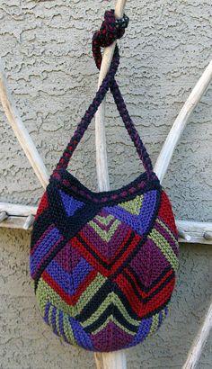 """Patchwork """"Diamond Intrigue"""" by Irene York  www.KnittingBasket.com"""