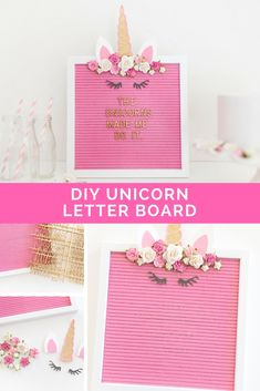 DIY Unicorn Letter B