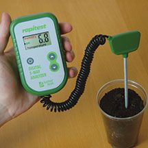 3-Way Digital Soil Analyzer- One compact unit measures soil pH, soil fertility and soil temperature. Provides easy-to-read digital results that are calibrated scientifically for accuracy. Guides and instructions are included for all 3 functions to help you obtain perfect growing conditions for your plants. Batteries are included.