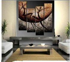 Moderno ABSTRACTO ENORME Pared pintura al óleo lienzo ornamentos (sin Enmarcado | Arte, Arte de anticuarios y revendedores, Pinturas | eBay!