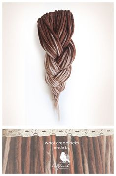 Wool dreadlocks brown beige blonde dreads by BullfinchHandmade #wooldreadlocks #woolies #dreads #dreadlocks #handmadedreads
