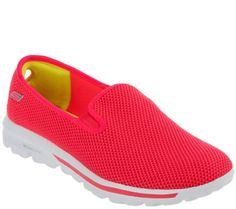 Skechers GOwalk Slip-on Mesh Sneakers - I have a pair like this, not all mesh though. I love these. So lightweight and comfy. Size 9.5