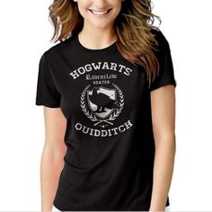 Ravenclaw Quidditch Funny Harry Hog Potter Warts Beater House Black T-shirt For Women