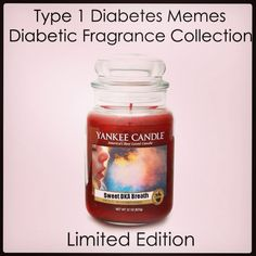 Diabetic scented candle