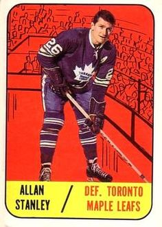 1967-68 Topps #13 Allan Stanley Front Hockey Cards, Baseball Cards, Maple Leafs Hockey, Toronto Maple Leafs, Trading Card Database, Sports Art, Hockey Players, Nhl, Athletes