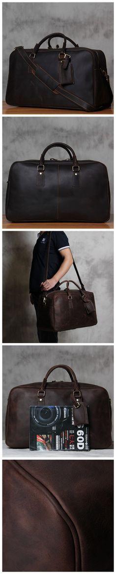 805e077deb7e Vintage Style Extra Large Genuine Leather Travel Bag  Duffle Bag  Weekender  Bag Luggage Bag 7156 from Unihandmade Leather Studio