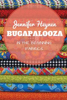 Spring has arrived!!! (Finally) Celebrate with these cute fabrics that are perfect for the season. Bugapalooza by Jennifer Heynen for In The Beginning Fabrics #Spring #Quilt #Fabric #WeLoveBugs #Happy #Flowers
