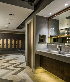 Washroom's one-of-a-kind changing rooms