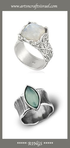 Beautiful Rings- find the style that you're looking for at www.artsncraftsisrael.com