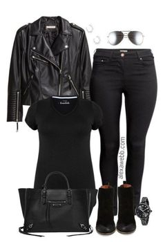 Plus Size Biker Jacket Outfit - Plus Size Fashion for Women - alexawebb.com #alexawebb