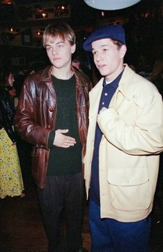 Late '90s Leo with Mark Wahlberg: | 48 Pictures That Perfectly Capture The '90s