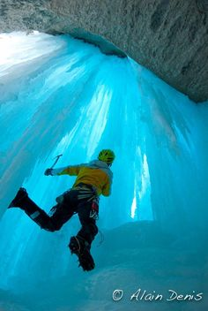 Ice Climbing in BC, Columbian Ice fields. Looking for a reason to get into ice climbing? This is a pretty good reason...