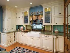 Painting Kitchen Backsplashes: Pictures & Ideas From HGTV | Kitchen Ideas & Design with Cabinets, Islands, Backsplashes | HGTV