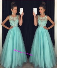 Bg405 New Arrival Tulle Prom Dress,Beading Prom Dress,Scoop