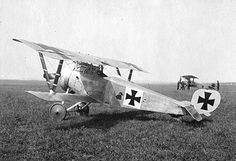 Another captured French aircraft at the German fighter school near Valenciennes (see photo nearby): this time a Nieuport 17.~ BFD