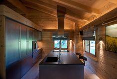 Modern Chalet Kitchen in Gstaad by Ardesia Design