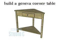 DIY Plans to Build a Geneva Corner Table - an excellent plan for beginners!