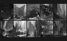 ArtStation - Composition & Shape Thumbnails Pt.1 , Ryan Gitter