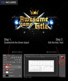 Awesome Game Title — Photoshop PSD #medieval #logo • Available here → https://graphicriver.net/item/awesome-game-title/14728557?ref=pxcr