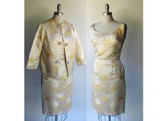 SALE SP Silk Dress and Jacket / Vintage 50s Silk von pintuckstyle