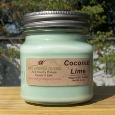 COCONUT LIME SOY Candle  Highly Scented by AJsCountryCottage, $9.00