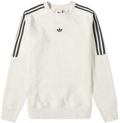 Adidas Originals Adidas Spirit Radkin Crew Sweat In White Adidas Shirt, Camisa Adidas, Adidas Outfit, Adidas Jacket, Adidas Men, Fashion Moda, Womens Fashion, Cheap Fashion, Fashion Ideas