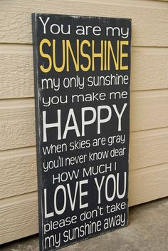 You+Are+My+Sunshine+Sign++Distressed+Sunshine+Sign++by+WordWhipped,+$60.00
