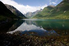 Peaceful Norwegian Fjord stock photo