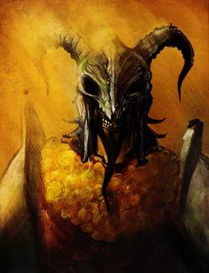 """""""The Crippler"""" by Aleksandar Radovanovic (acazigot)   Vargo Hoat The Goat   #Fantasy"""