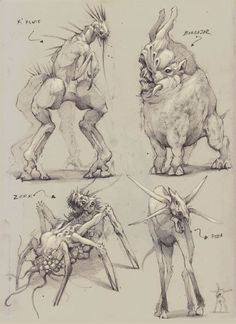 Digital Painting Creature Design Texture Paint Brushes Concept Art Design Sketch… – Art Drawing Tips Magic Creatures, Alien Creatures, Fantasy Creatures, Mythical Creatures, Strange Creatures, Monster Concept Art, Alien Concept Art, Creature Concept Art, Creature Design