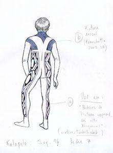 Indicação para pintura corporal alto xinguana. André Toral, 2010